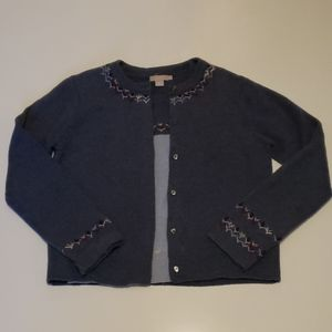 J Crew Twin Set Sweater Cardigan Blue L